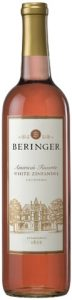 Beringer White Zinfandel mini bottle