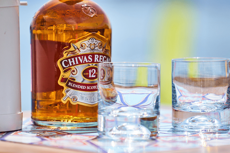 chivas regal with glasses
