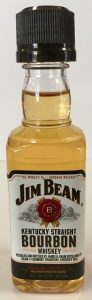 jim bean kentucky straight mini liquor bottle
