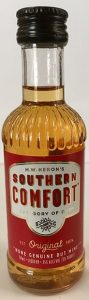 Southern Comfort miniature liquor bottle