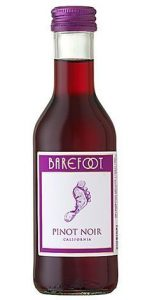 Barefoot Pinot Noir wine mini bottle