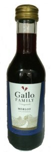 E&J Gallo Merlot wine mini bottle