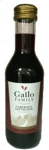 Gallo Cabernet Sauvignon mini wine bottle