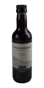 Woodbridge Merlot wine mini bottle