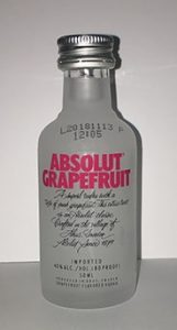 Absolut Grapefruit Vodka mini bottle