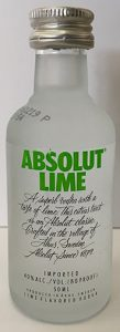 Absolut Lime Vodka mini bottle