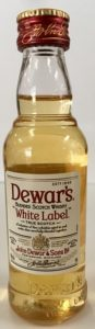 Dewar's White Label Scotch mini bottle