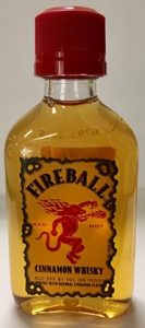 Fireball Whiskey mini bottle