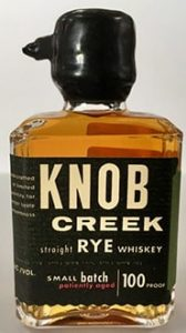 Knob Creek Straight Rye Whiskey mini bottle
