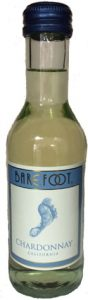 Barefoot Chardonnay wine mini bottle