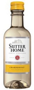 Sutter Home Chardonnay wine mini bottle