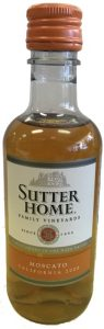 Sutter Home Moscato mini wine bottle