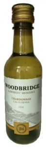 Woodbridge Chardonnay wine mini bottle