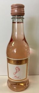 barefoot rose mini wine bottle