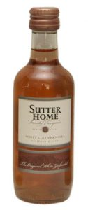 sutter home white zinfandel mini wine bottle